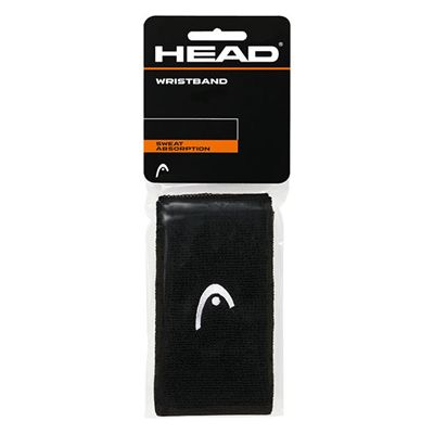 Head 5 Inch Wristbands-Pack of 2-Black