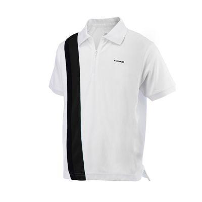 Head Baddley Junior Poloshirt with Zip - White/Black