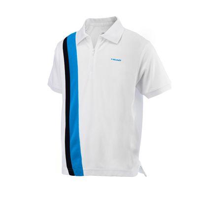 Head Baddley Junior Poloshirt with Zip - White/Blue/Black