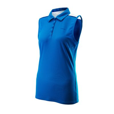 Head Chambers Ladies Sleeveless Shirt Blue White Navy