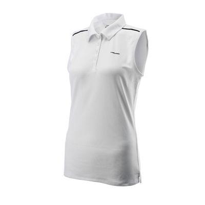Head Chambers Ladies Sleeveless Shirt White Black