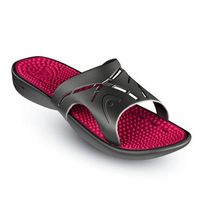 Head Chrono Massage Pool Sandal-Black And Pink