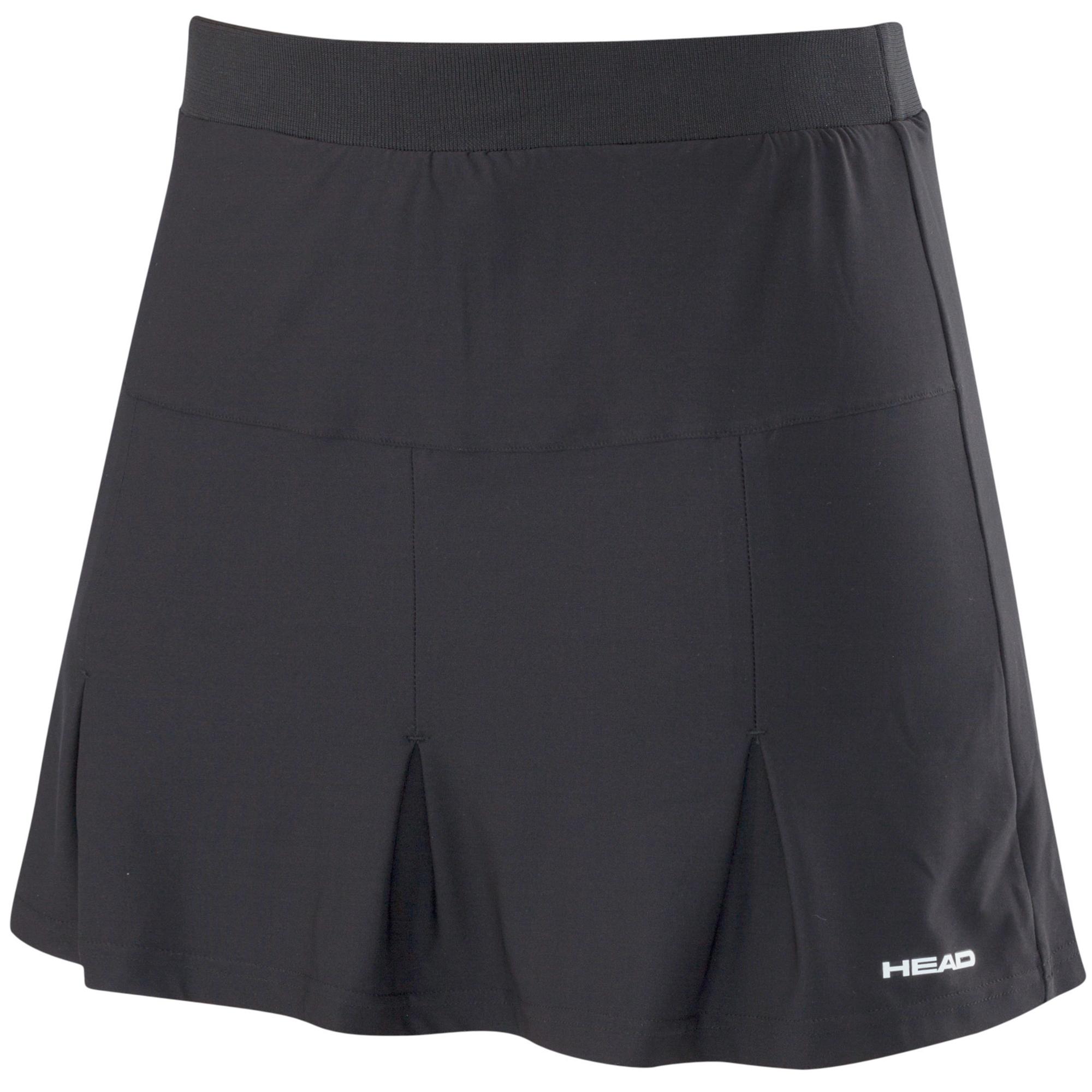 Head Club Basic Ladies Long Skort - Black, XS