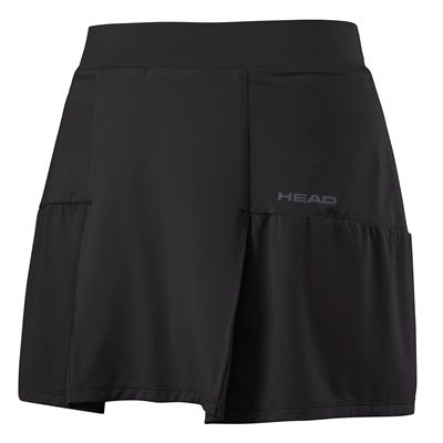 Head Club Basic Long Ladies Skort - Black