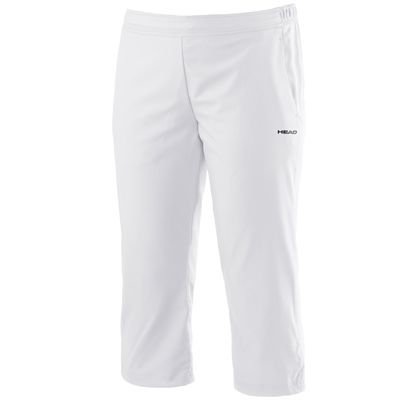 Head Club Capri Ladies Pants-White
