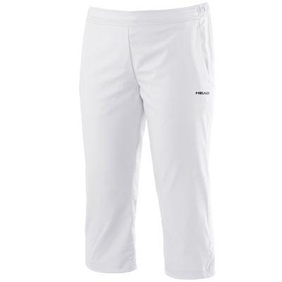 Head Club Capri Ladies Pants-White