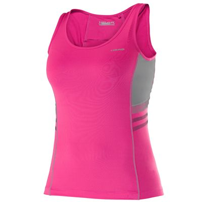 Head Club Tank Ladies Sleeveless Top-Pink