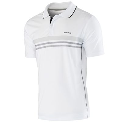 Head Club Technical Boys Polo Shirt-White and Black