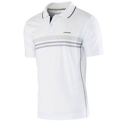 Head Club Technical Boys Polo Shirt-White and Black