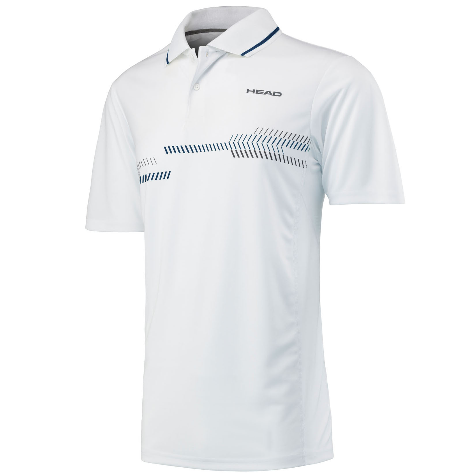 Head Club Technical Boys Polo Shirt - White/Navy, S