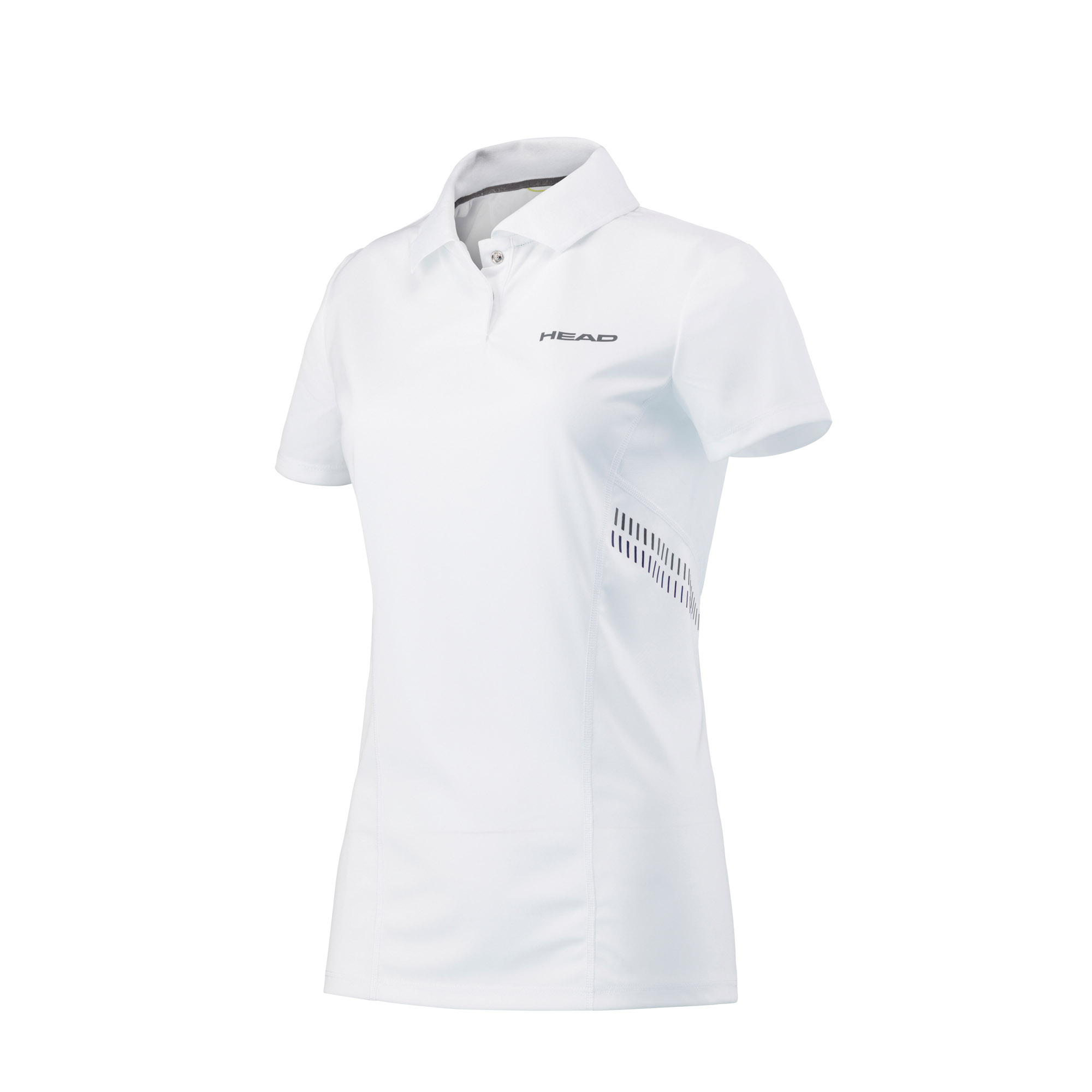 Head Club Technical Girls Polo Shirt - White/Navy, L