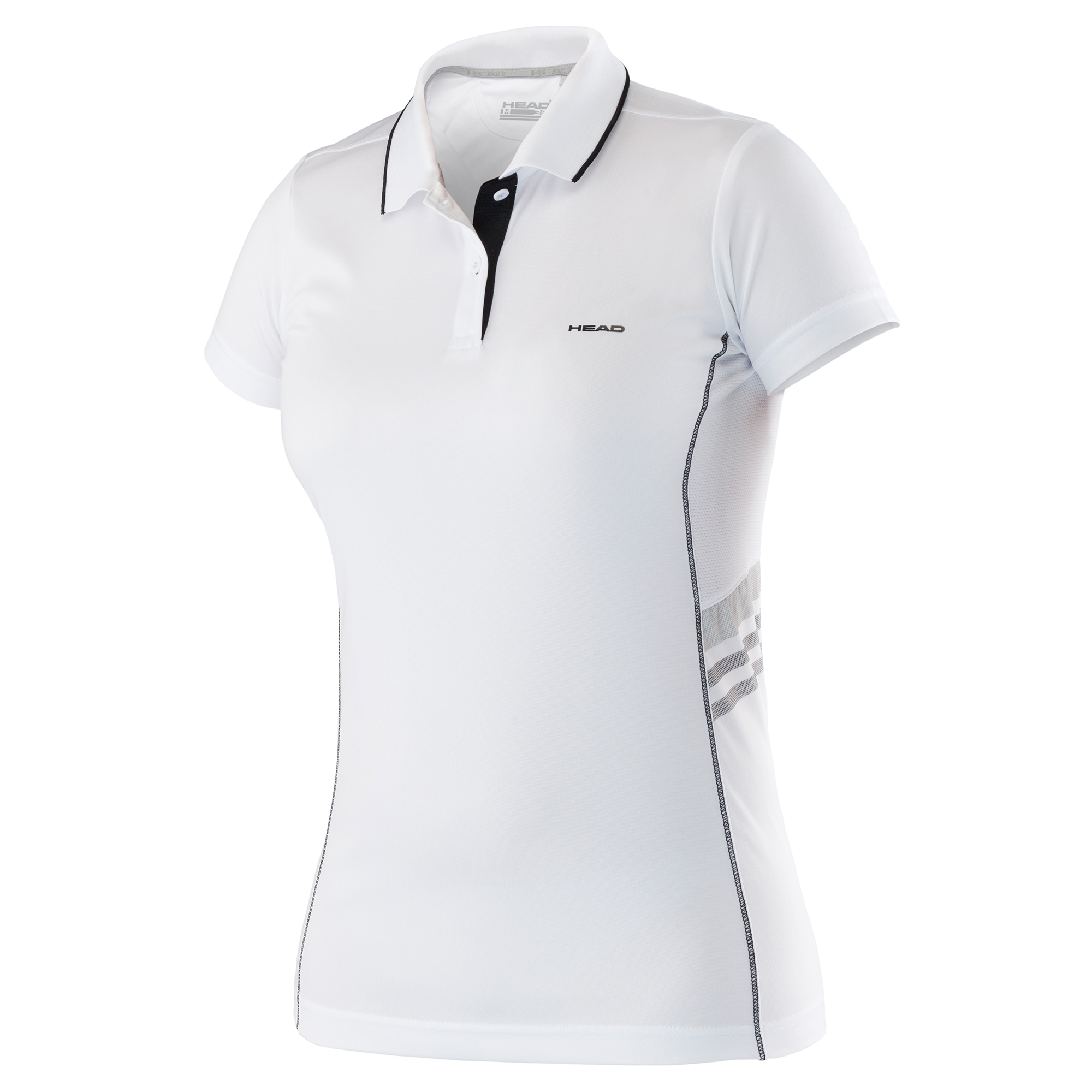 Head Club Technical Ladies Polo Shirt SS16 - White/Black, XS