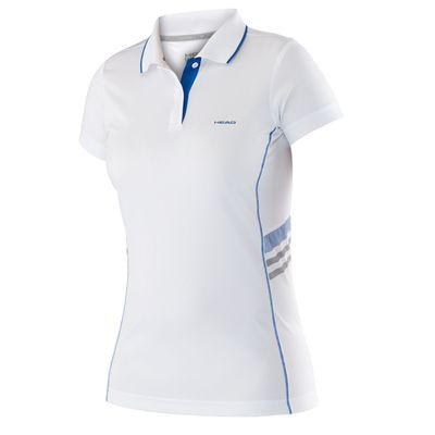 Head Club Technical Ladies T-Shirt - White/Blue