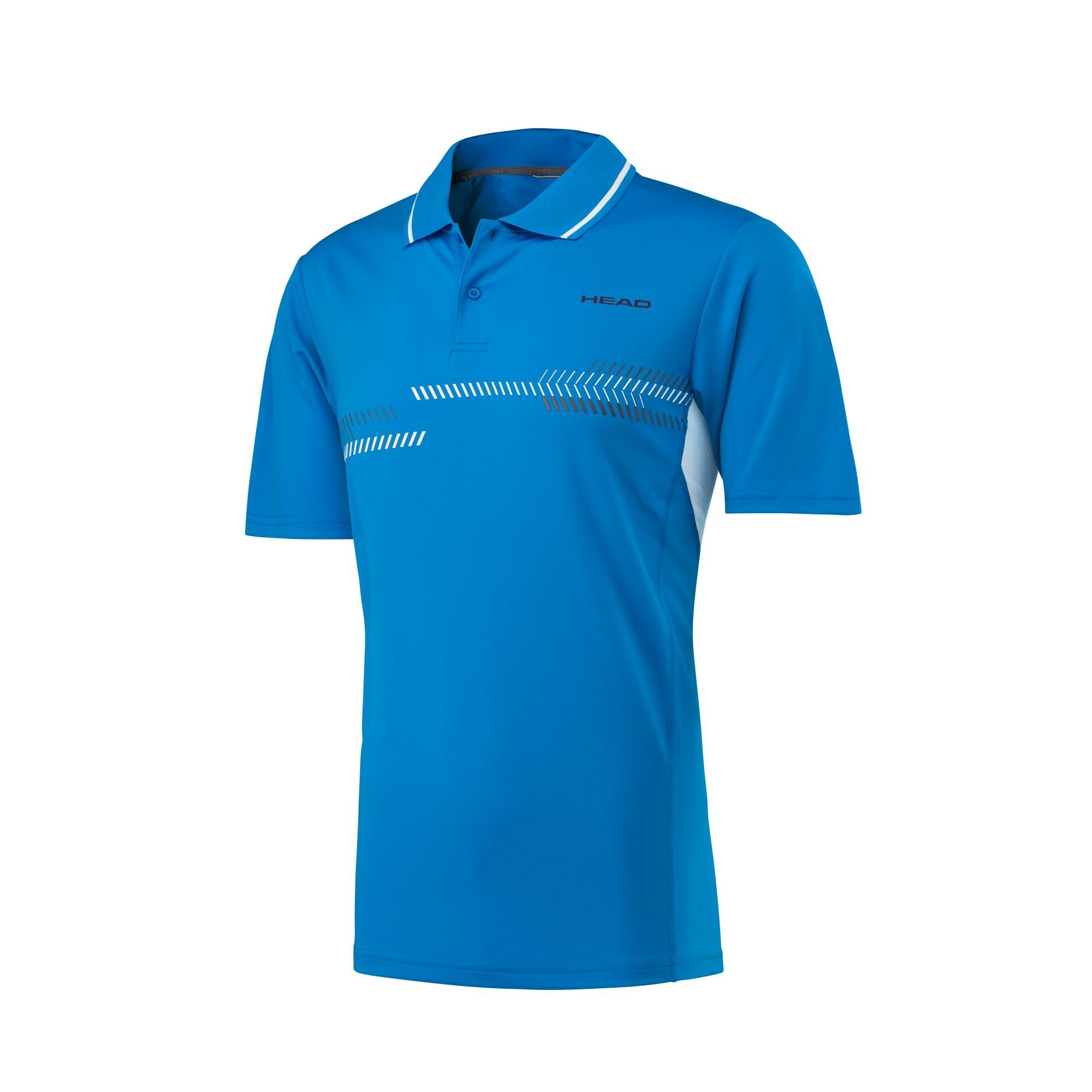 Head Club Technical Mens Polo Shirt - Blue, S