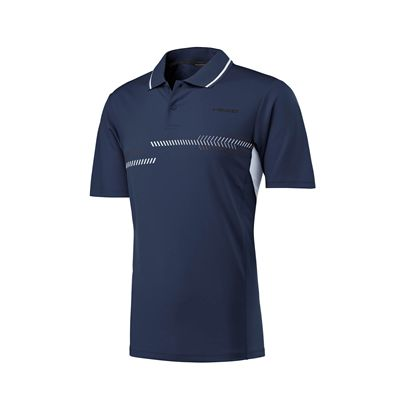 Head Club Technical Mens Polo Shirt - Navy