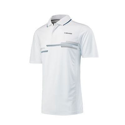 Head Club Technical Mens Polo Shirt - White