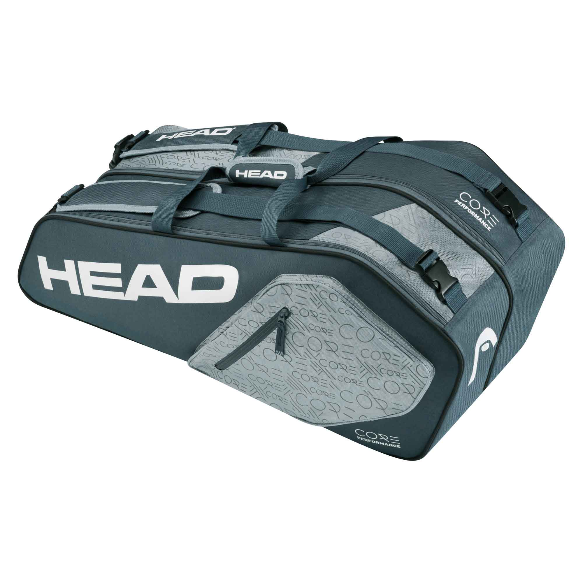 Head Core Combi 6 Racket Bag  Grey