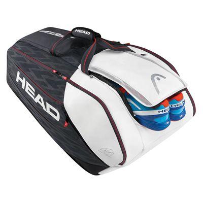 Head Djokovic Monstercombi 12 Racket Bag SS17 - Shoes Inside