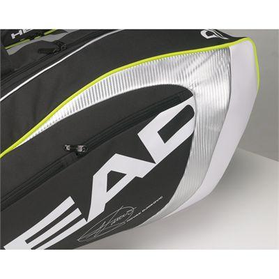Head Djokovic Monstercombi Racket Bag 2014 - 2 outside accessories pockets