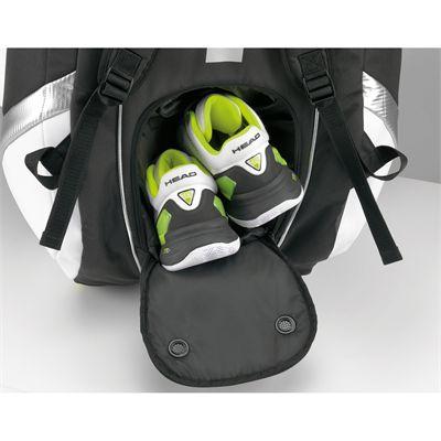 Head Djokovic Monstercombi Racket Bag 2014 - integrated shoe compartment