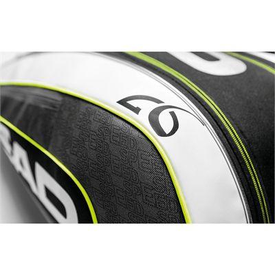 Head Djokovic Supercombi 9 Racket Bag SS16 Logo View