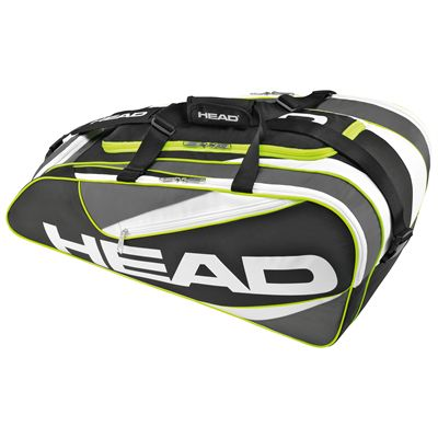 Head Elite All court Racket Bag-Black and Grey