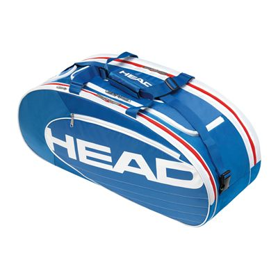 Head Elite All Court 3-4 Racket Bag-Blue and White