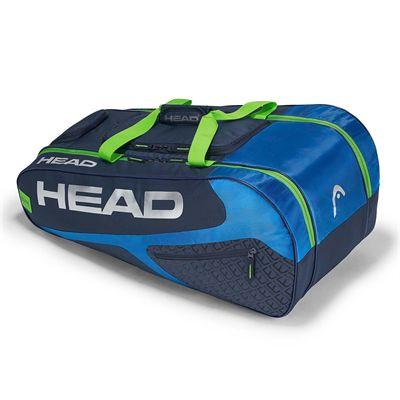 Head Elite All Court 8 Racket Bag - Blue/Green