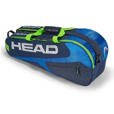 Head Elite Combi 6 Racket Bag SS19 - Blue/Green
