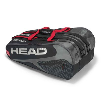 Head Elite Monstercombi 12 Racket Bag AW17 - Black/Red