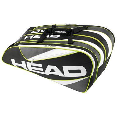 Head Elite 12R Monstercombi Racket Bag-Black and Grey