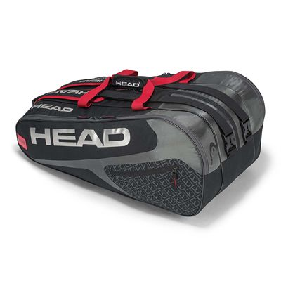 Head Elite Monstercombi 12 Racket Bag SS19 - Bladk/Red