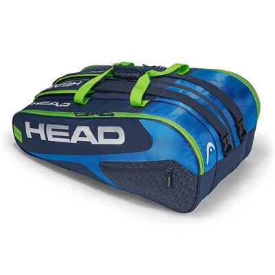 Head Elite Monstercombi 12 Racket Bag SS19 - Blue/Green