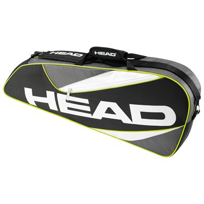 Head Elite 3R Pro Racket Bag-Black and Grey