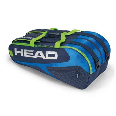 Head Elite Supercombi 9 Racket Bag AW17 - Blue/Green