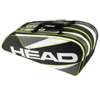 Head Elite 9R Supercombi Racket Bag-Black and Grey