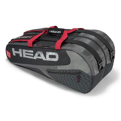 Head Elite Supercombi 9 Racket Bag SS19 - Black/Red