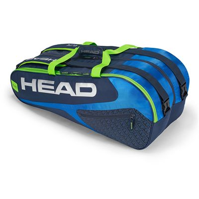 Head Elite Supercombi 9 Racket Bag SS19 - Blue/Green