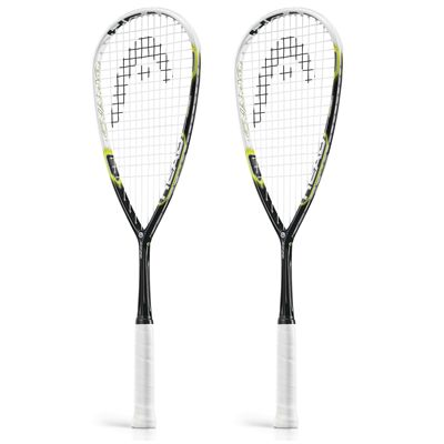 Head Graphene Cyano 115 Squash Racket Double Pack