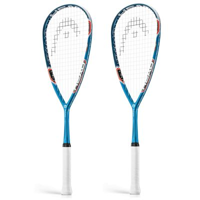 Head Graphene Cyano 135 Squash Racket Double Pack