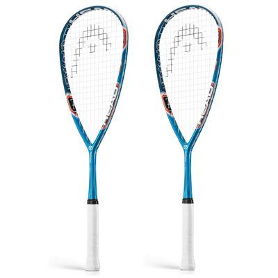 Head Graphene Cyano 135 Squash Racket Double Pack