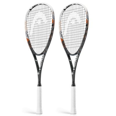 Head Graphene Neon 130 Squash Racket Double Pack