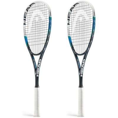 Head Graphene Xenon 140 Squash Racket Double Pack