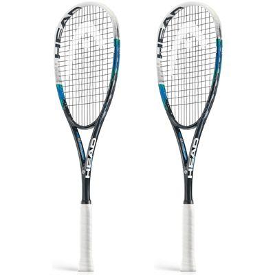 Head Graphene Xenon 140 Squash Racket Double Pack