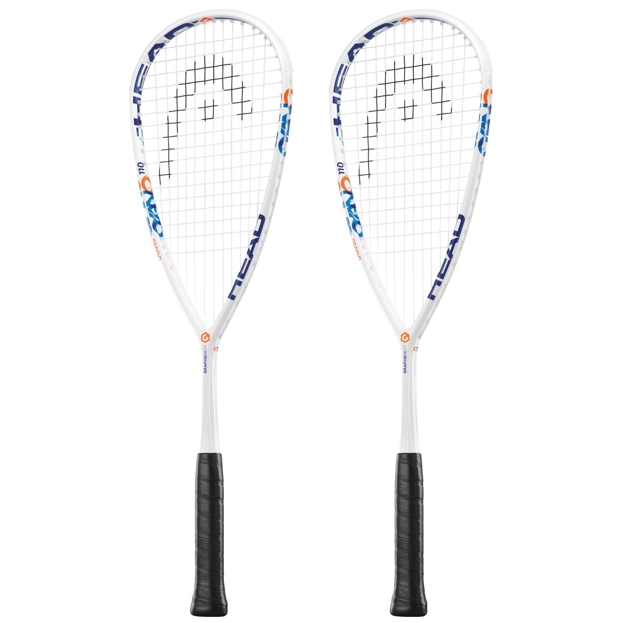 Head Graphene XT Cyano 110 Squash Racket Double Pack