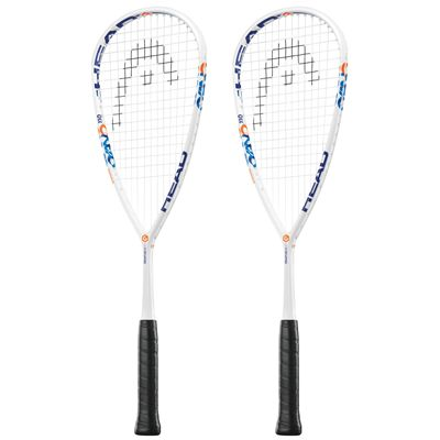 Head Graphene XT Cyano 110 Squash Racket Double Pack