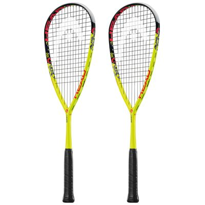 Head Graphene XT Cyano 120 Squash Racket Double Pack