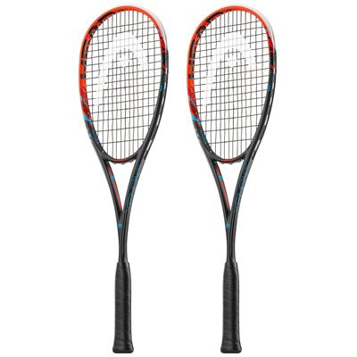 Head Graphene XT Xenon 135 Squash Racket Double Pack