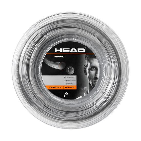 Head Hawk Tennis String  200m Reel  Grey