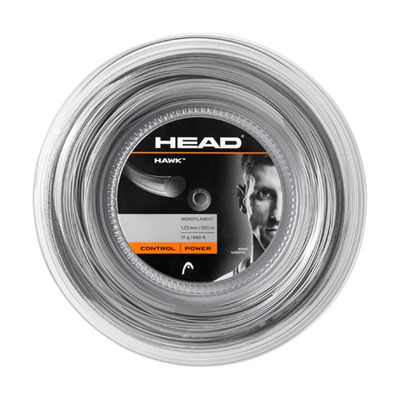 Head Hawk Tennis String - 200m Reel - grey